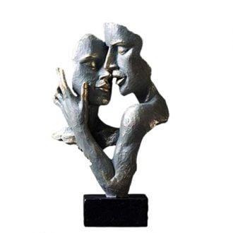 Figura rzeźba nowoczesna modern twarze dłonie metalowe