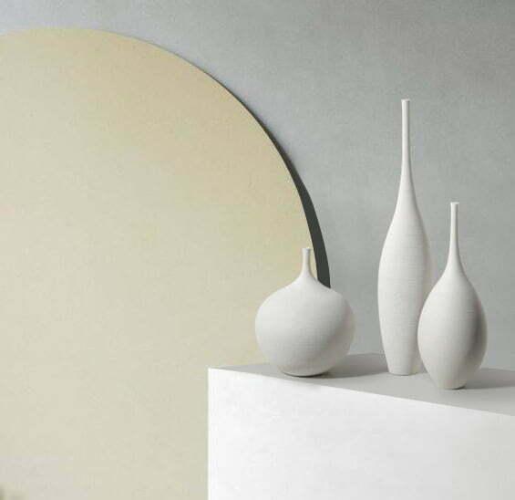Biały Dekoracyjny Wazon Ceramiczny Okrągly Tulip Ozdobny