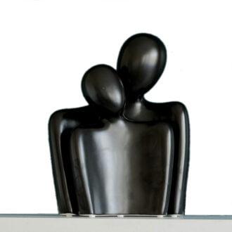 nowoczesna figurka dekoracyjna para czarna